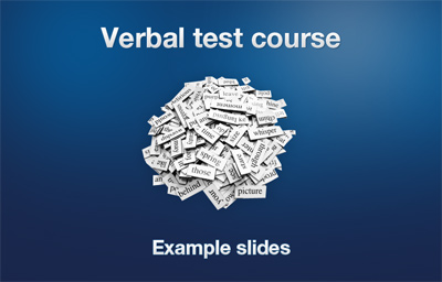 Verbal Course introduction